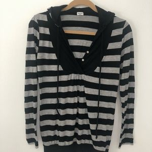 Splendid Striped Hooded Pullover Size Small